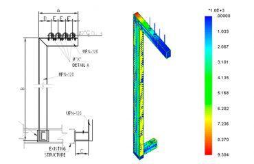 Verificación estructural de 5 Soportes de Tuberías. Sistema PCI